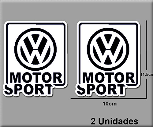 Ecoshirt 99-6Q8V-PRRG sticker VW Motor R195 vinyl sticker Decal Sticker Decal Sticker Car Auto Sport Racing Wit Zwart