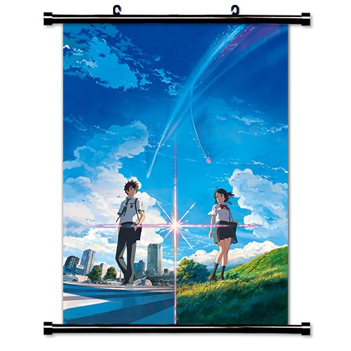MovieWallscrolls First Art Source - Póster de Tela de Anime con Texto en inglés Your Name (Kimi no Na WA (40,6 x 58,4 cm)