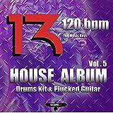 Rhythm House 4/4 Drums Kit & bass Line & Plucked 120 bpm E P1
