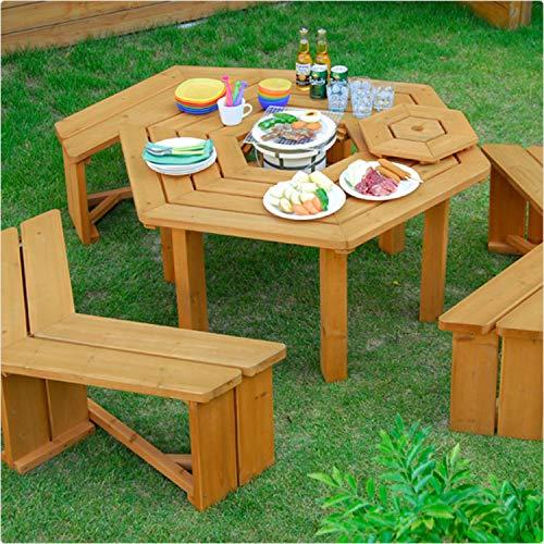 山善『ガーデンマスターパティオテーブル』