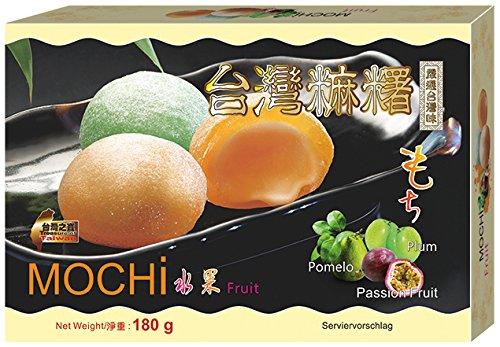 Awon Mochi, Sabor A 3 Variedades De Frutas, Ciruelas, Maracuyá Y Pomelo 180 g - Lot de 5