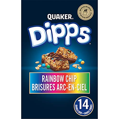 QUAKER Dipps Rainbow Chip Granola Bars (14 Bars x 30 g), 420 g