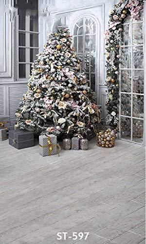 Kerstversiering Boom Raam Kamer foto achtergrond Vinyl doek Computer print partij achtergronden