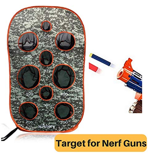 wishery Large Nerf Scoring Target Compatible with Nerf Guns for Kids Shooting Practice. for Boys & Girls. Great with Nerf N Strike, Rival, Mega, Fortnite Dart Guns.