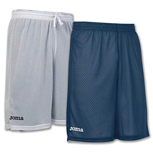 Joma Short Basket Reversible Rookie Marino-Blanco Pantalones Cortos, Hombres, Marino-Blanco-300, L