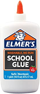 Elmer's Liquid School Glue, White, Washable, 16 Ounces – Great for Making Slime