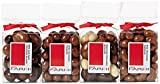 Rita Farhi Selection of Chocolate Covered Nuts (Almonds, Peanuts, Cashew Nuts and Brazil Nuts) Set of 4 Acetate Gift Boxes, 890 g