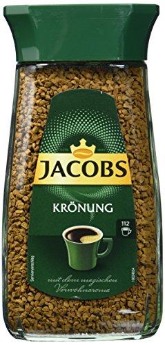 Jacobs löslicher Kaffee Krönung, 2er Pack (2 x 200 g Instant Kaffee)