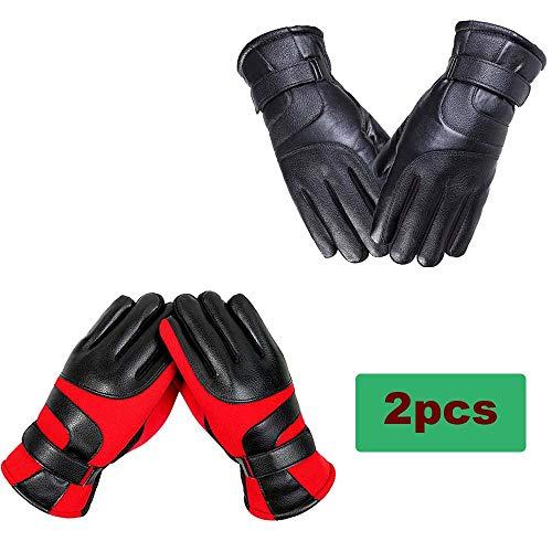 GXSY99 hardloophandschoenen, uniseks, touchscreen, antislip, voor sport, thermisch, winterhandschoenen, met dagweergave, fleecevoering voor fiets, hardlopen, wandelen, stuur