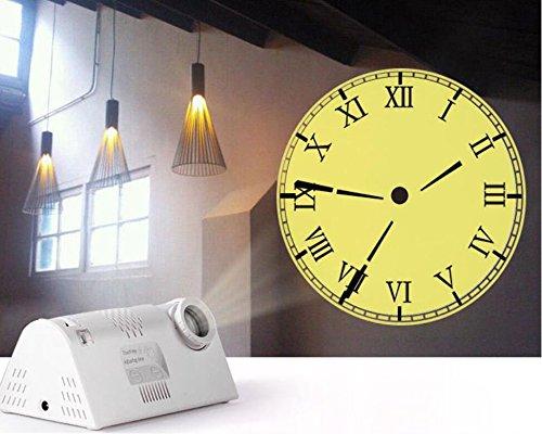 Shuangklei Hot Koop Circulaire Projectie Moderne Wandklok Rome Arabië Digitale Naald Met Backlight Mechanische Kunststof