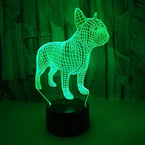 HGFHGD 7 Colores cambiantes 3D LED lámpara de Mesa de luz Nocturna...