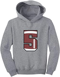 Tstars Gift for 5 Year Old 5th Birthday Football Toddler Hoodie