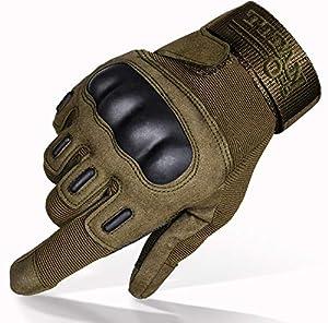 TitanOPS Full Finger Half Finger Hard Knuckle Motorcycle Military Gloves