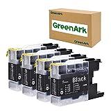 GREENARK Compatible Ink Cartridge Replacement for Brother LC75 LC71 Black LC71BK LC75BK Ink Cartridges Use for Brother MFC-J280W, J425W, J430W, J435W, J5910DW, J625DW, J6510DW, J825DW, J835DW Printer