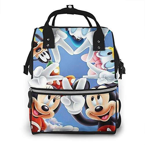 Sac à Langer Sac à Dos - Minnie, Mickey & Friends Multifonction étanche Voyage Sac à Dos maternité bébé Nappe Sacs à Langer