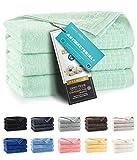 ZWOLTEX Himmlisch weiche Handtücher aus 100% Ägyptischer Baumwolle I Made IN EU I Gästehandtücher Ultra-Soft Duschtuch Badetuch - 3er Handtuch Set Grün