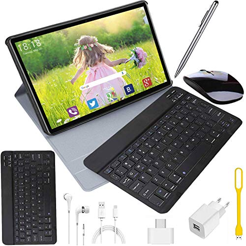 4G Tablet 10.1 Pollici con Wifi Offerte Tablet PC Offerte Android 9.0 8500mAh con Slot per Scheda SIM Doppio Memoria RAM da 3GB+32GB 8MP Camera Quad Core Tablet Sbloccato WiFi/Bluetooth/ GPS/OTG