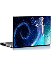 PIXELARTZ Laptop Skins Frozen Queen Elsa Anna 15.6 Inches Laptop Skins/Stickers for Dell-Lenovo-Acer-HP (4046)
