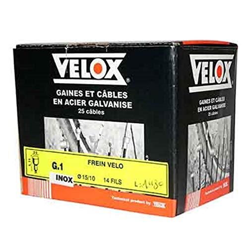 VELOX Cable DE Frein Route 1.80M INOX pour Shimano 10-11V. (Boite DE 25 Cables)