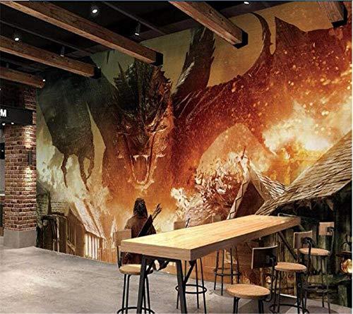 Cyalla Hobbit Dragon Custom Photo Wallpaper for Living Room 3D Murals Mural Wallpaper for Walls 3 D Tv Wallpaper-140X70CM
