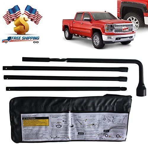 Autobaba New Fresno Mall Spare Tire Repair Las Vegas Mall Kit Wrench with Lug Bag Conv