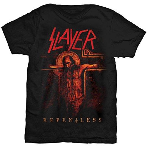 T-Shirt # L Black Unisex # Crucifix