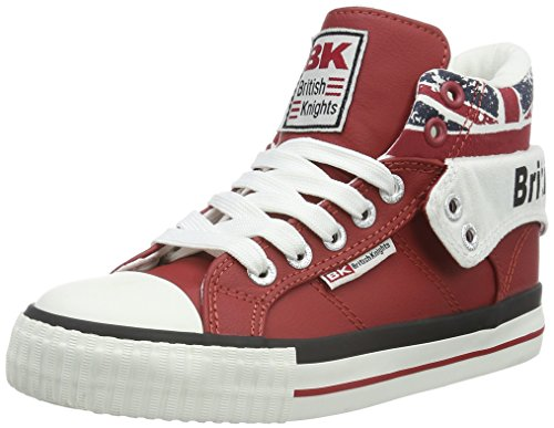 British Knights Roco Unisex-Kinder Basketball hoch, Rot (red/union jack 02), 28 EU