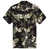 Hawaii Hangover Camisa Hawaiana de los Hombres Camisa Hawaiana L Hibisco Negro
