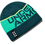Under Armour Boys' Billboard Reversible Beanie , Blackout Teal (461)/White , One Size Fits All