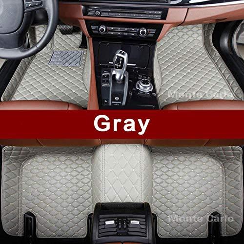 LUOLONG vloermatten voor in de auto, op maat gemaakte vloermatten voor Bmw 4-serie F32 F33 F36 M4 F82 F83 Gran Coupe converteerbare 3D-tapijten voor alle weersomstandigheden vloerbedekking Grijs