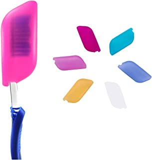 V-TOP Silicone Toothbrush Case Covers Pack of 6, Great for Home and Outdoor