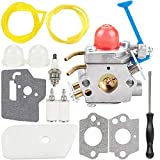 Kuupo 128LD Carburetor Air Filter Tool Fuel Line Filter Carb Tune-up Parts Kit for Trimmer Edger 28cc 124L 125L 125LDX 128C 128L 128LD 128R 128RJ Poulan Replaces Zama C1Q-W40A W38