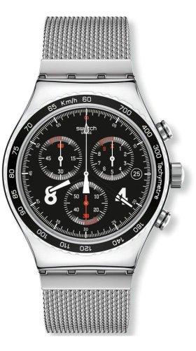 Swatch Reloj Cronógrafo de Cuarzo para Hombre con Correa de Acero Inoxidable – YVS401G