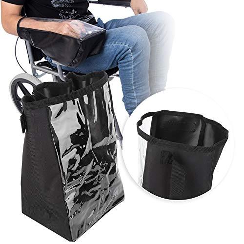 Funda para reposabrazos de silla de ruedas, tela Oxford impermeable, cubierta para silla de ruedas, panel de control de silla eléctrica, cubierta de protección, accesorios para silla de ruedas (negro)