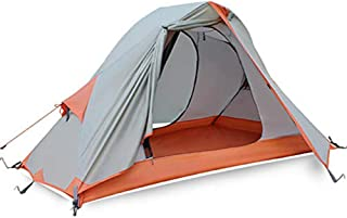 Image of 1 Person Camping Tent with Shelter,4 Season Lightweight Waterproof Tent with Carry Bag Perfect for Beach Outdoor Traveling Hiking Camping Hunting Fishing Etc