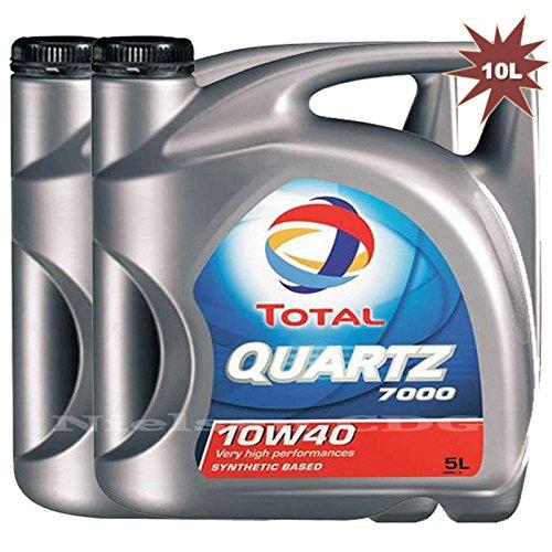 Total Quartz 7000 10w40 Huile moteur essence/diese 2 x 5 l = 10 l