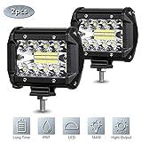 2 Pcs LED Pods Light Bar 4 Inch, 120W 12000LM Work Light Off Road Fog Light, Waterproof Spot Beam LED Cubes...