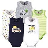 Hudson Baby Unisex Baby Cotton Sleeveless Bodysuits, Taco Truck, 6-9 Months