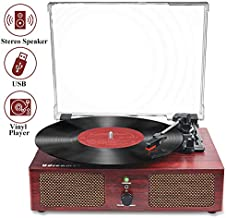 Vinyl Record Player Bluetooth Turntable with Speaker USB LP Player Phonograph 3 Speed Vintage