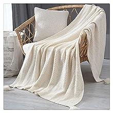 Hbao Manta de sofá Blando Tridimensional, Manta Decorativa de Punto, Manta de Cama y pie, Manta de Ocio, fácil de cuidar (Color : Style A, Size : 135 * 175cm)