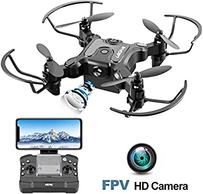 4DRC V2 Mini Drone with camera for Kids Adults WiFi APP FPV Foldable RC Quadcopter for Boys Girls with Altitude Hold, One Key Return, Headless Mode, Tap Fly, 3D Flips, 3 Modular Batteries