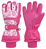N 'Ice Caps Kids Scroll Print Thinsulate und Snowboarder Handschuhe wasserdicht Gr. 8-10 Jahre, Fuchsia print
