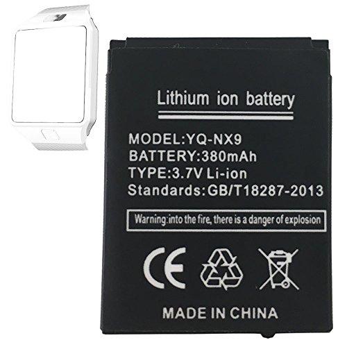OCTelect Batteria per smartwatch DZ09 ricaricabile al litio con capacità 380 mAh