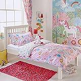 Unicorn niña Junior Infantil con Forma de Flores de arcoíris–Juego de...