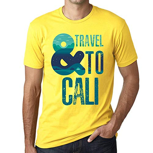 One in the City Hombre Camiseta Vintage T-Shirt Gráfico and Travel To Cali Amarillo