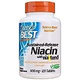 Doctor's Best Niacina De Liberación Prolongada Con Niaxtend, 500Mg - 120 Pestañas 120 Unidades 100 g