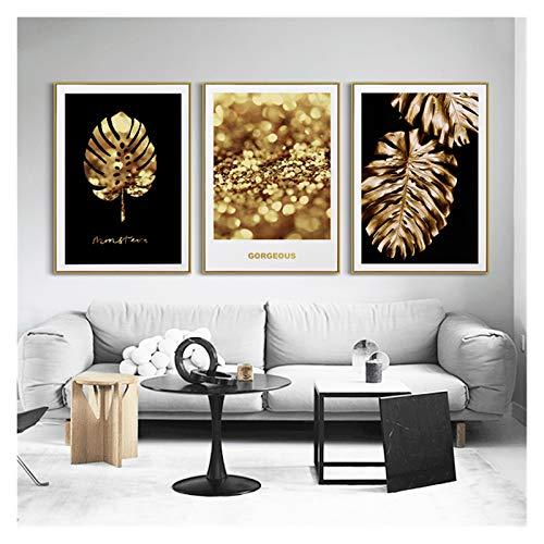 GKMM Abstracto Lienzo Pintura Oro lámina jarrón Key saxofón Sigue su sueño Arte decoración Pintura cumpleaños Regalo de cumpleaños Mural (Color : A, Size : 60x80cm No Frame)