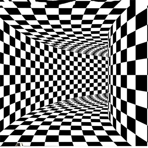Alfombra De Área 3D, Alfombra Vortex Illusion Alfombra a Cuadros en Blanco Y Negro con Efecto Visual 3D Alfombra Antideslizante Alfombra Vortex Alfombra Para El Hogar Dormitorio Sala de Estar Guarde