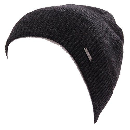 WOOLRICH 1645W cuffia bimbo lana check grey wool beanie hat boy kid [S/39 CM]