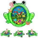 Kaome Wassermatte Baby Wasserspielmatte BPA-frei Große, Aufblasbare Spielmatte Baby Spielzeug ab 3 6 9 Monate Bauchzeit Matte für Baby Frühe Entwicklung Aktivitätszentren (im Winter, Warmes Wasser)